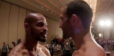 Luke Rockhold vs David Branch weigh-in faceoff