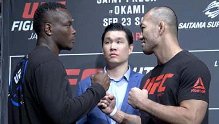 Ovince Saint Preux vs Yushin Okami media day face-off