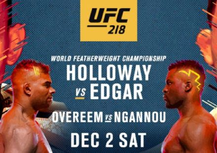 UFC 218 Holloway vs Edgar Fight Poster