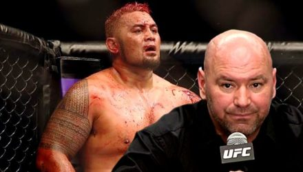 Dana White over bloody Mark Hunt