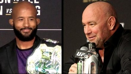 Demetrious Johnson and Dana White - UFC 216