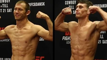 Donald Cerrone vs Darren Till UFC Gdansk weigh-in