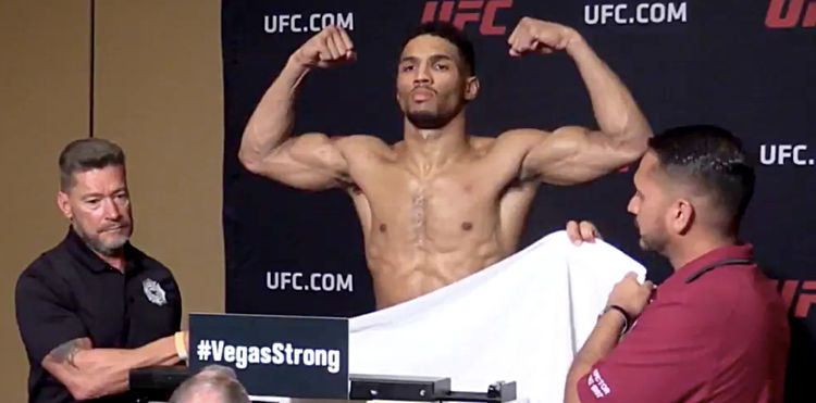Kevin Lee UFC 216 makes weight 2nd try v1