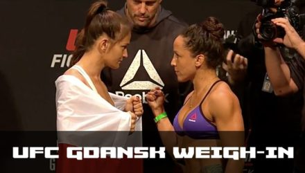 UFC Gdansk Weigh-in Video Kowalkiewicz vs Esquibel