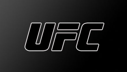 UFC black logo on gradient