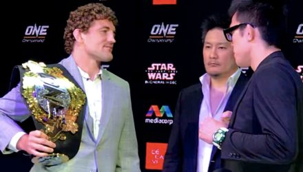 Ben Askren vs Shinya Aoki Face-Off