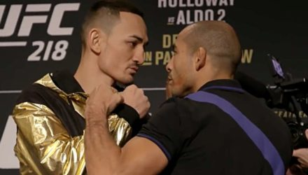 Max Holloway vs Jose Aldo UFC 218 faceoff