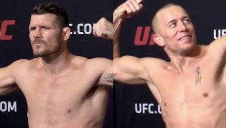 Michael Bisping & Georges St-Pierre - UFC 217 weigh-in