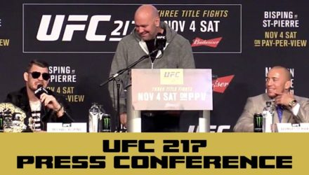 UFC 217 Press Conference - Bisping vs St-Pierre