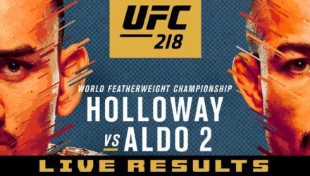 UFC 218 Holloway vs Aldo 2 Live Results