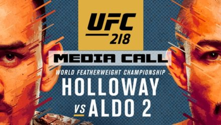UFC 218 Holloway vs Aldo 2 Media Call