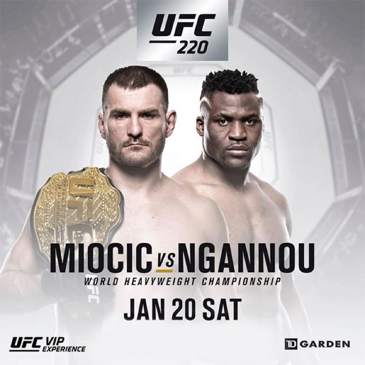 UFC 220 Miocic vs Ngannou Fight Poster
