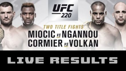 UFC 220 Miocic vs Ngannou Live Results