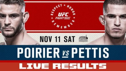 UFC Fight Night 120 Poirier vs Pettis Live Results