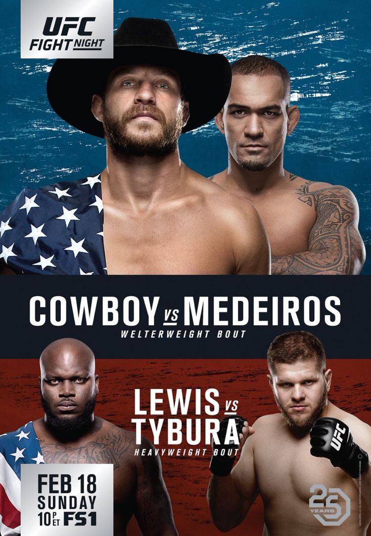UFC Fight Night Cerrone vs Medeiros Fight Poster