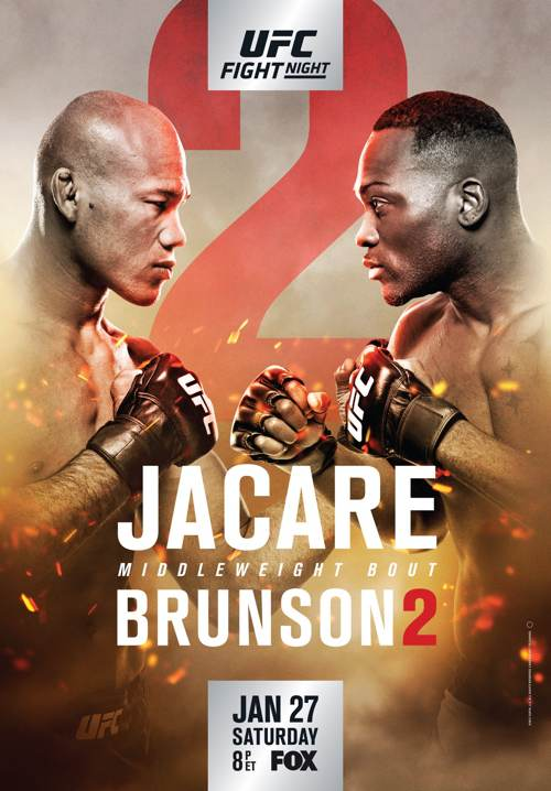 UFC on FOX 27 Jacare vs Brunson 2 Fight Poster