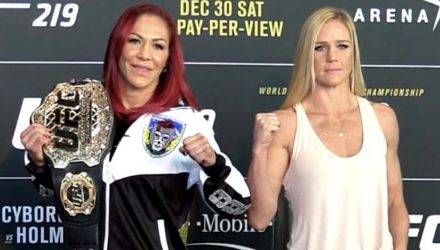Cris Cyborg vs Holly Holm UFC 219 Media Day Faceoff
