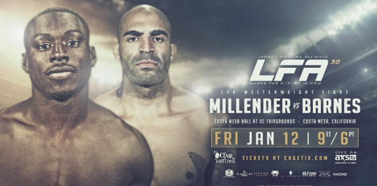 LFA 30 Millender vs Barnes Fight Poster