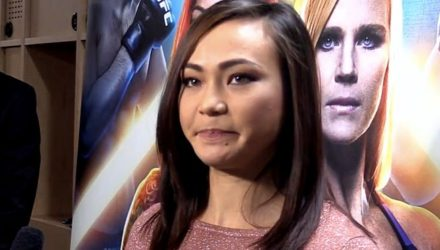 Michelle Waterson UFC 219 backstage scrum