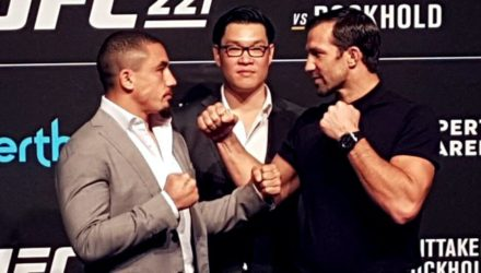 Robert Whittaker vs Luke Rockhold UFC 221 Faceoff