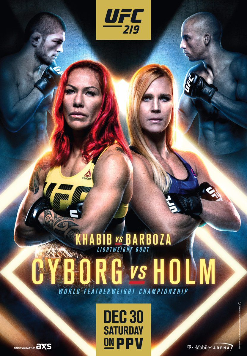 UFC 219 Cyborg vs Holm Fight Poster