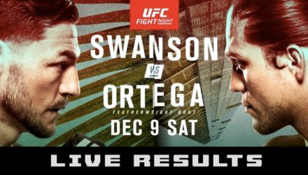 UFC Fight Night 123 Swanson vs Ortega Live Results
