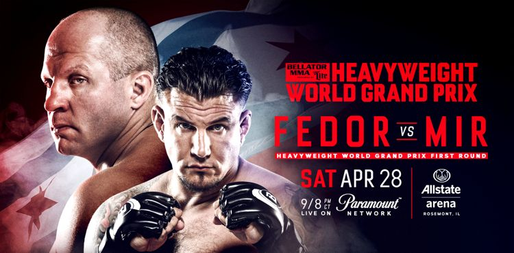 Bellator Fedor vs Mir Fight Poster