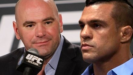 Dana White and Vitor Belfort - stern