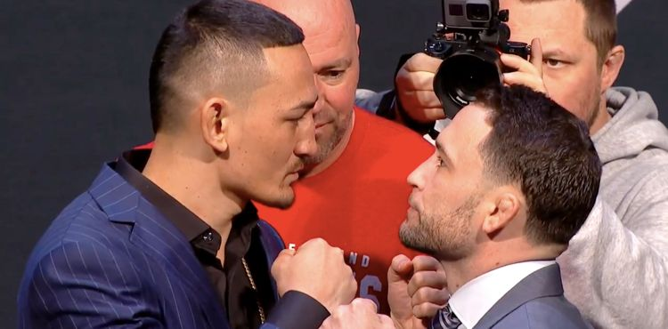 Max Holloway and Frankie Edgar UFC 222 faceoff