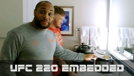 UFC 220 Embedded - Cormier's Bathroom