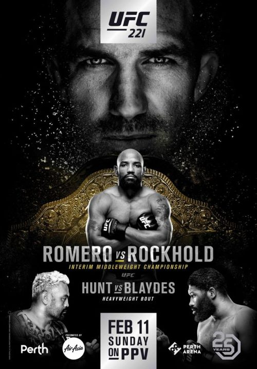 UFC 221 Rockhold vs Romero Fight Poster