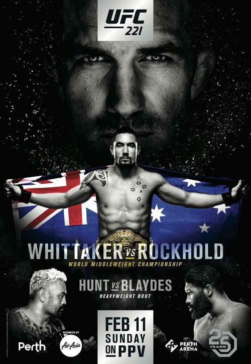 UFC 221 Whittaker vs Rockhold Fight Poster