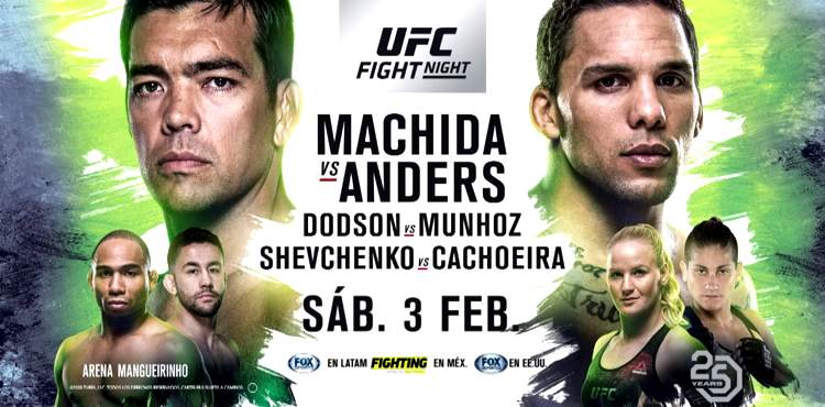 UFC Fight Night 125 Machida vs Anders fight poster