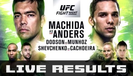 UFC Fight Night 125 Machida vs Anders live results