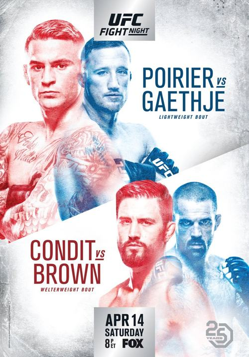 UFC on FOX 29 Poirier vs Gaethje Fight Poster