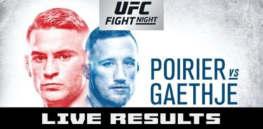 UFC on FOX 29 Poirier vs Gaethje Live Results