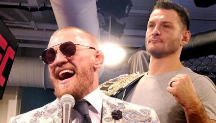 Stipe Miocic and Conor McGregor