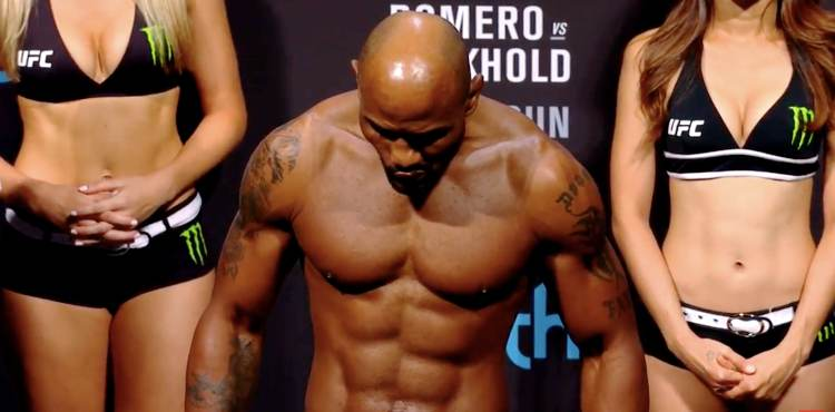 Yoel Romero UFC 221 weigh-in
