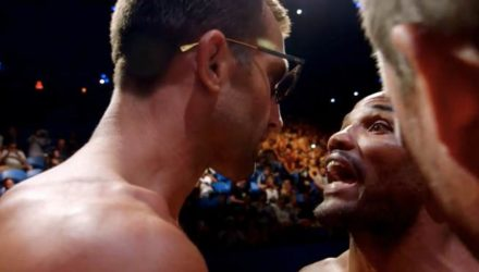 Yoel Romero yelling at Luke Rockhold UFC 221 embedded