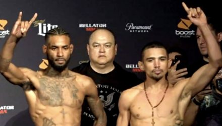 Bellator 195 weigh-in: Darrion Caldwell vs Leandro Higo