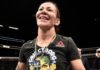 Cris Cyborg in the Octagon at UFC 222