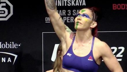 Cris Cyborg at the UFC 222 Ceremonial Weigh-ins