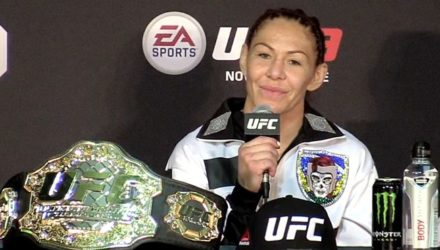 Cris Cyborg at the UFC 222 Post-Fight Press Conference