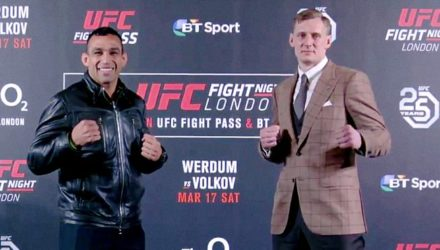 Fabricio Werdum and Alexander Volkov face off at UFC London