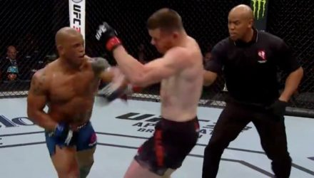 Hector Lombard rocks CB Dollaway at UFC 222
