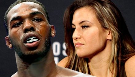 Jon Jones and Miesha Tate