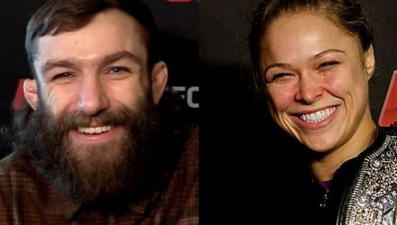 Michael Chiesa and Ronda Rousey split screen