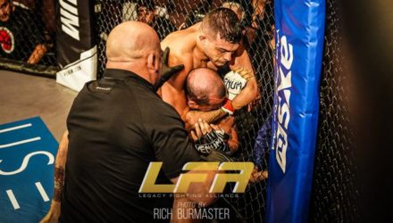 Nick Newell submits Sonny Luque at LFA 35