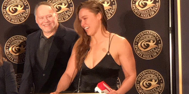 Ronda Rousey receives her 6th degree black belt in Judo