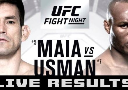 UFC Chile Maia vs Usman Live Results